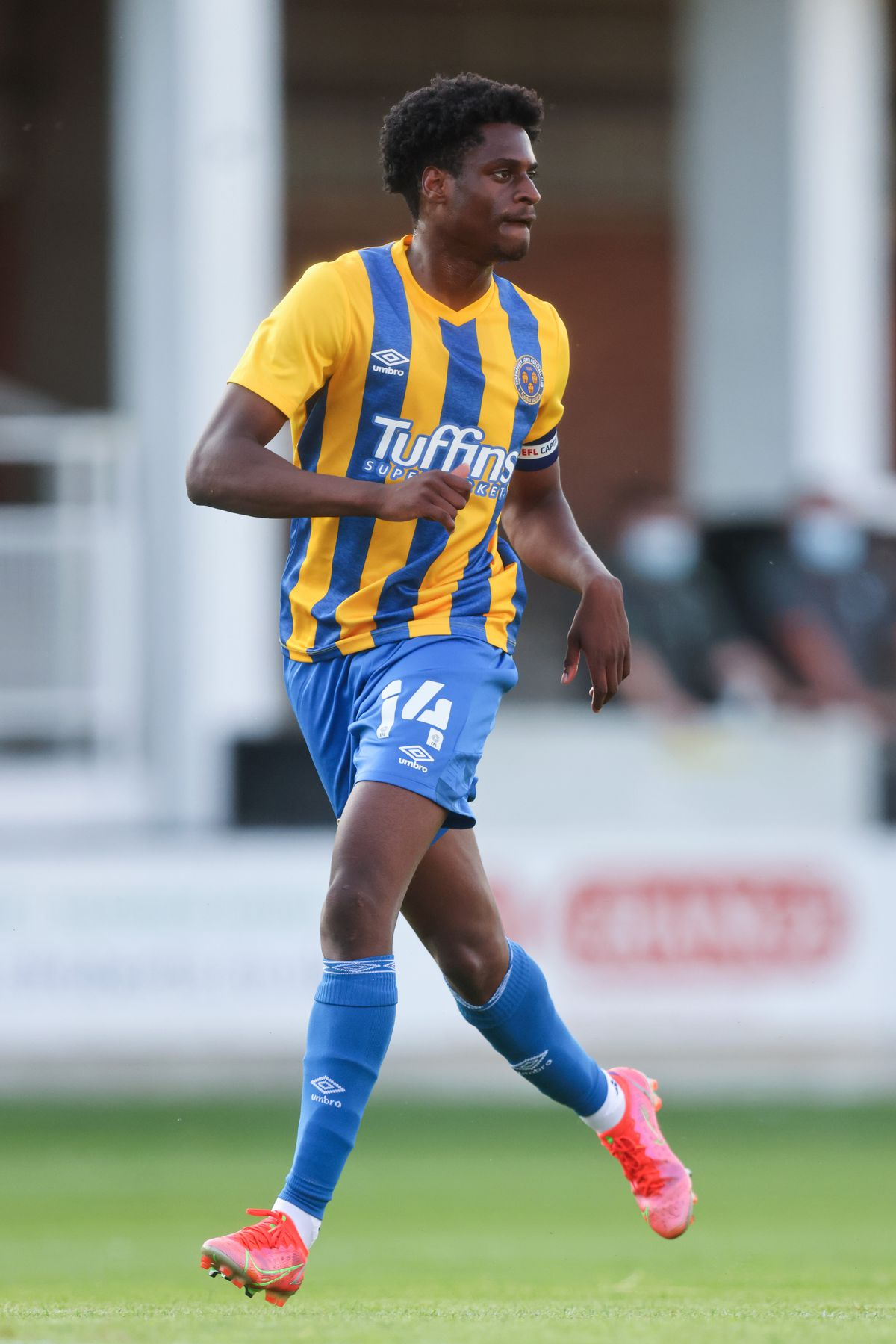 Nathanael Ogbeta was handed the captain's armband in the friendly win at Hereford on Tuesday (AMA)