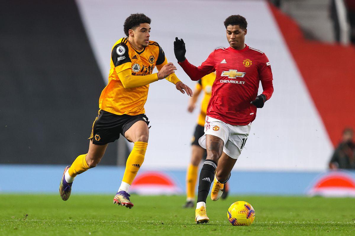 Ki-Jana Hoever of Wolverhampton Wanderers and Marcus Rashford of Manchester United (AMA)