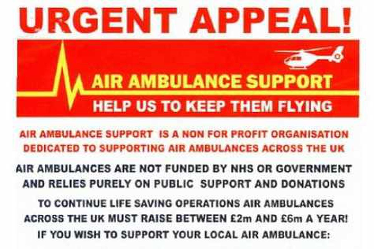 Warning over fake air ambulance charity collections