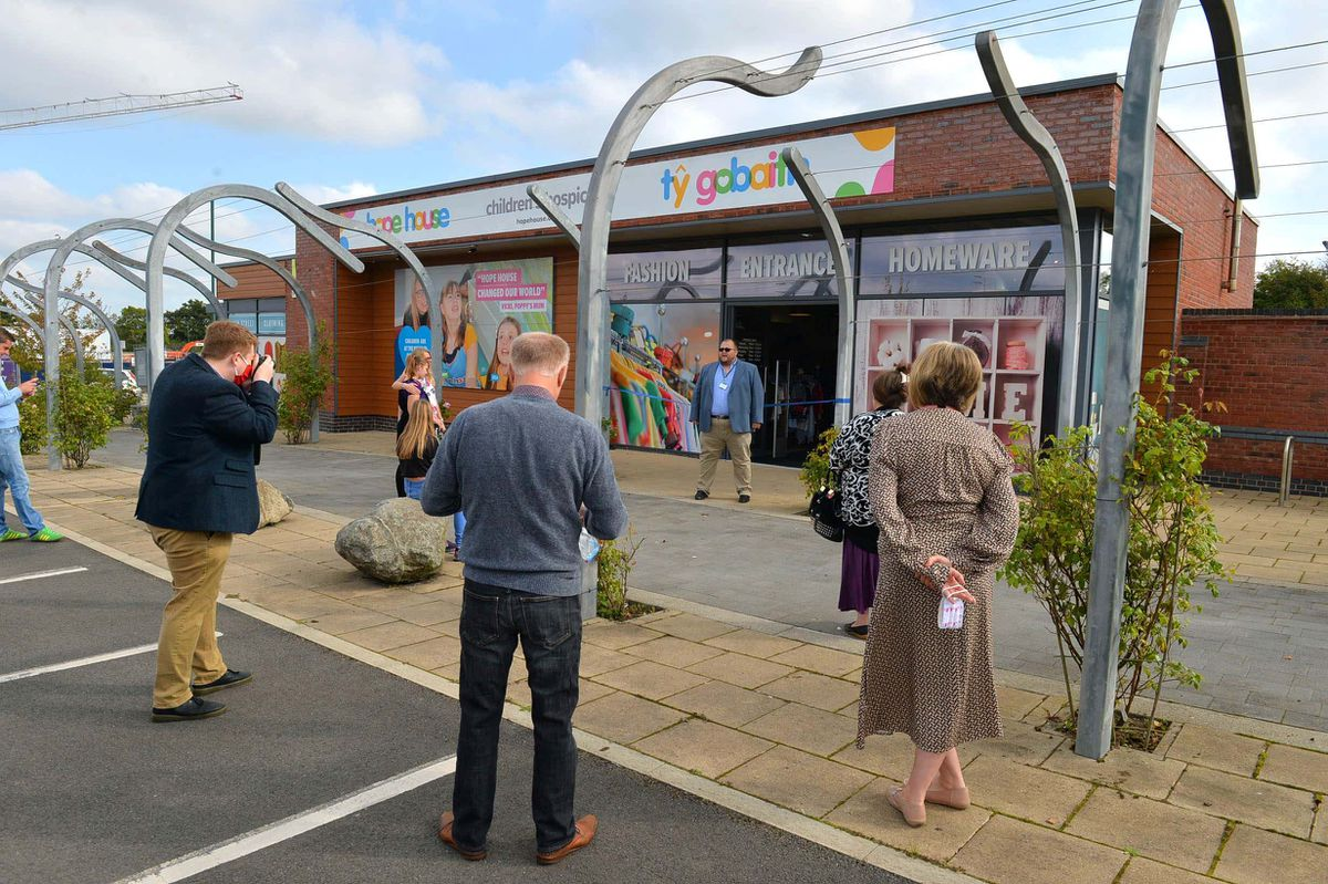 The opening of the new Hope House charity shop