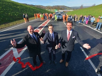 £95 million Newtown Bypass is opened - with video and pictures