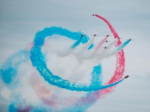 The Red Arrows at last year's RAF Cosford Airshow