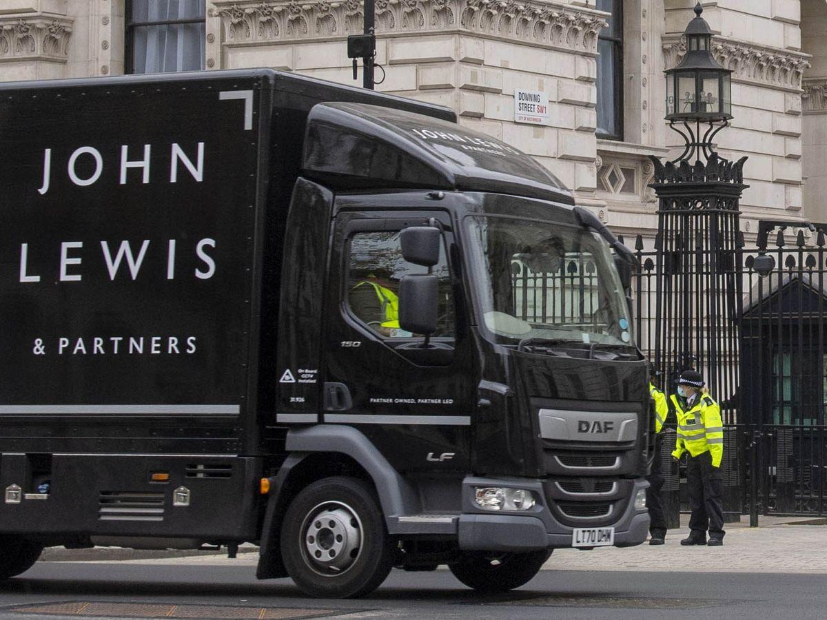 A John Lewis van