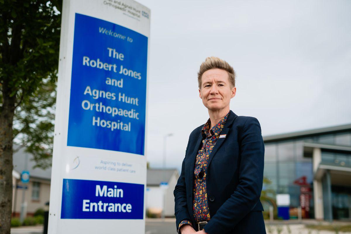 Stacey Keegan, interim chief executive at Robert Jones and Agnes Hunt Orthopaedic Hospital