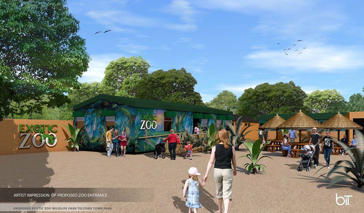 An image of how the park could look shared on the Exotic Zoo's Facebook page