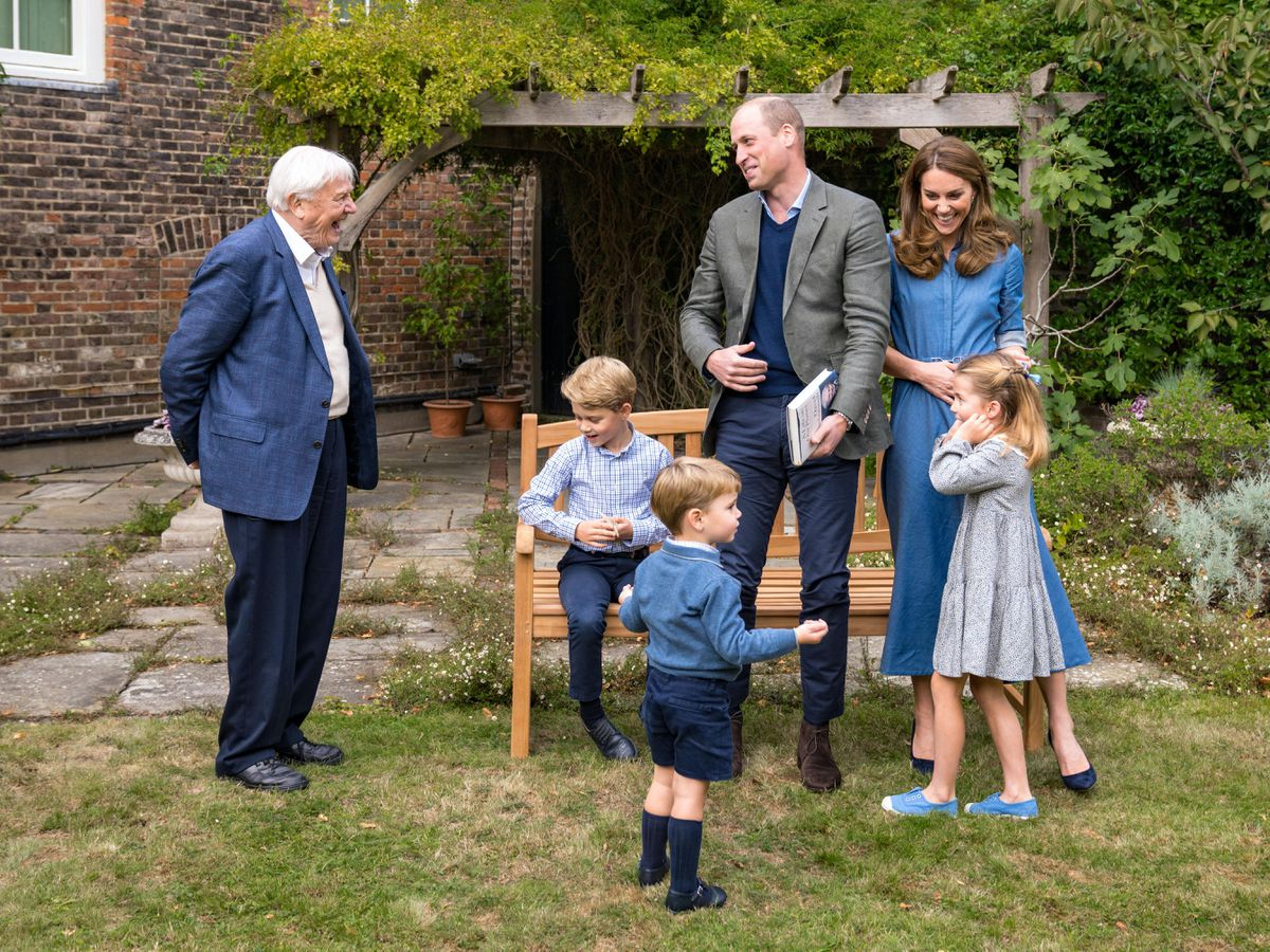 The Duke and Duchess of Cambridge and their children, pictured with Sir David Attenborough, have supported the Royal British Legion's Poppy Appeal. Victoria Jones/PA Wire