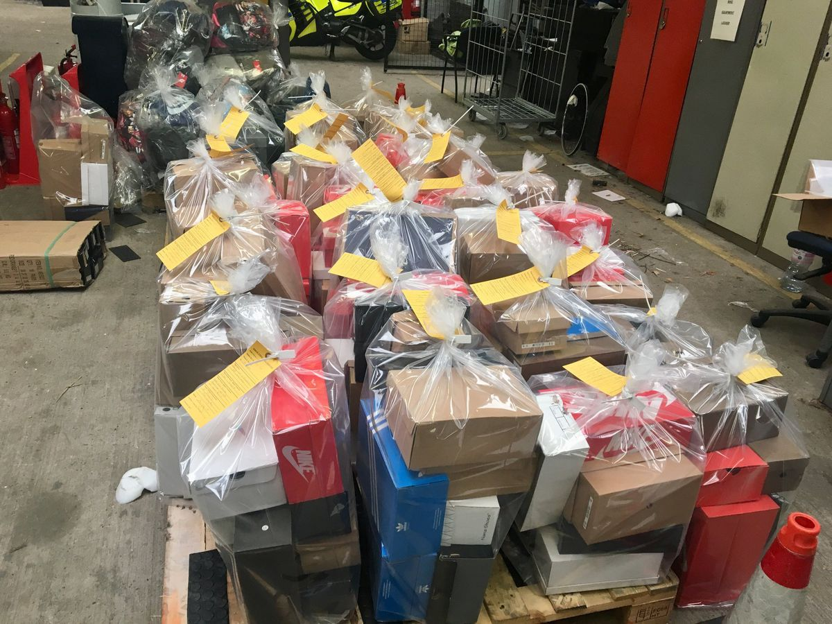 The goods seized from the house in Hodnet