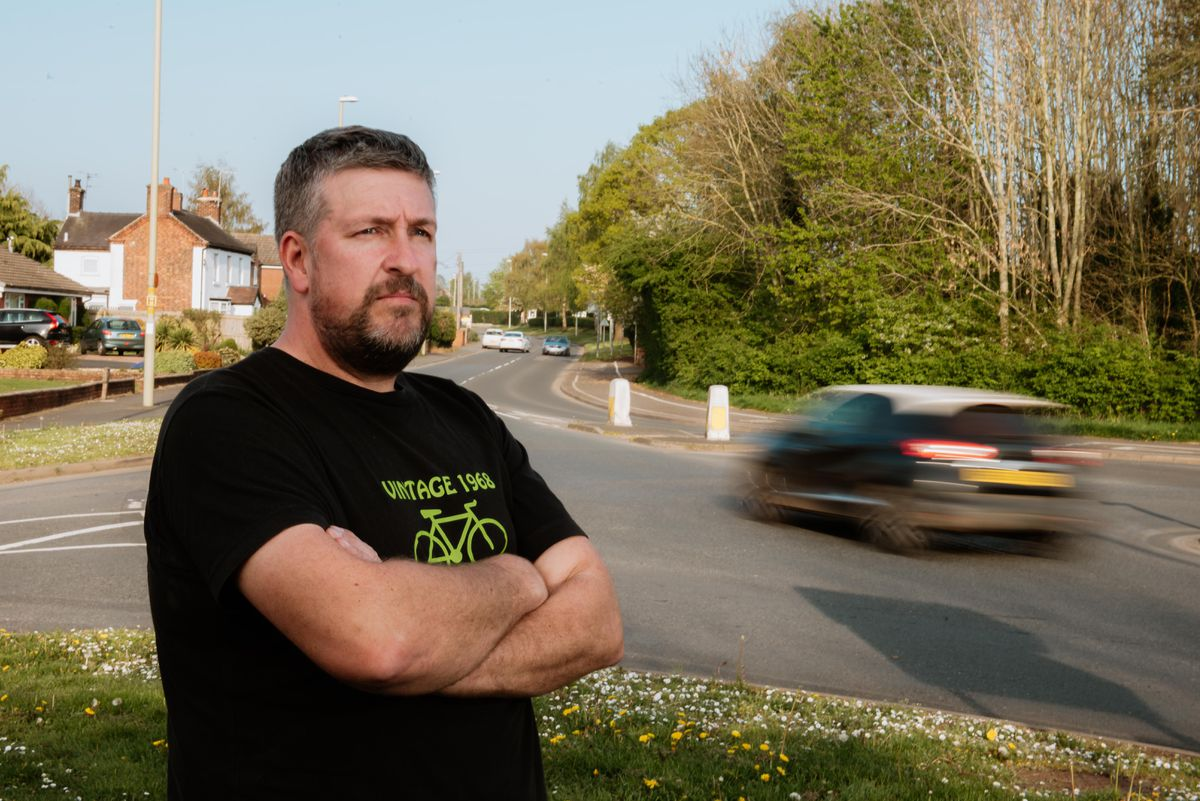 Clive Luty from Market Drayton is looking for volunteers to man speed guns on some of the danger spots in the town to take down speed figures