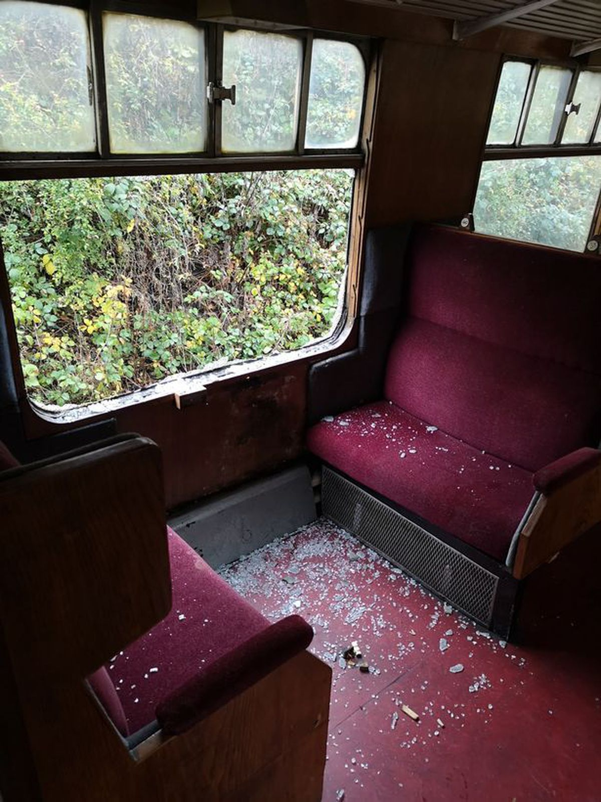 One of the damaged carriages. Picture: Llangollen Heritage Railway