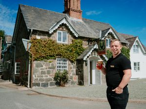 BORDER COPYRIGHT SHROPSHIRE STAR JAMIE RICKETTS 12/07/2020 - Pubs are back open in Wales on Monday - Pre pic. In Picture: The Horseshoes Inn, Welshpool - Owner Darren Ellis-Whitelegg...