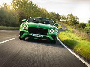 The Bentley Continental GT Convertible. Pic: Richard Pardon