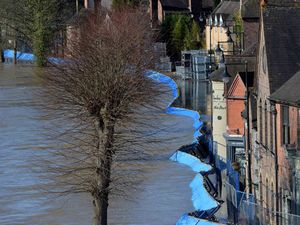 Flooding in Ironbridge earlier this year