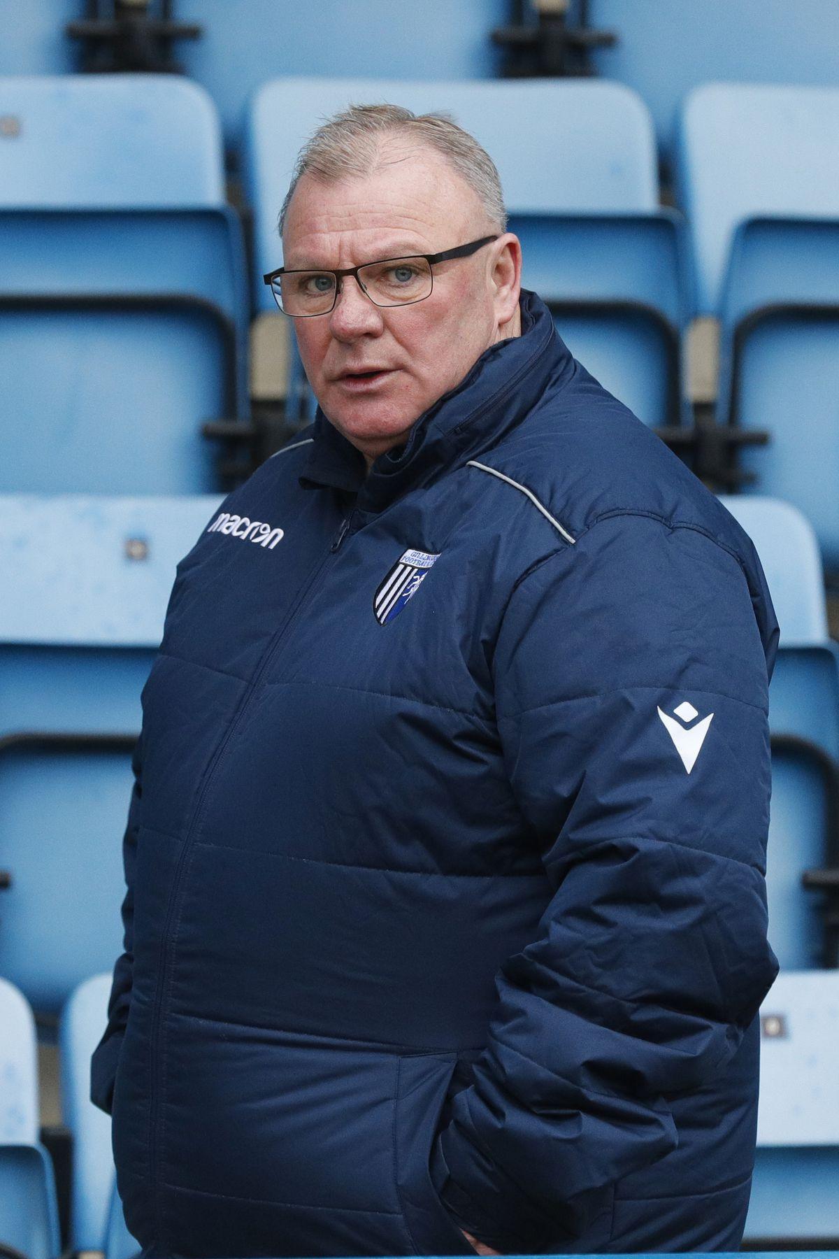 Gillingham boss Steve Evans during the goalless draw between his side and Shrewsbury last season (AMA)