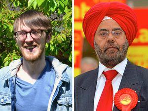Green candidate Luke Shirley and Labour's Kuldip Sahota