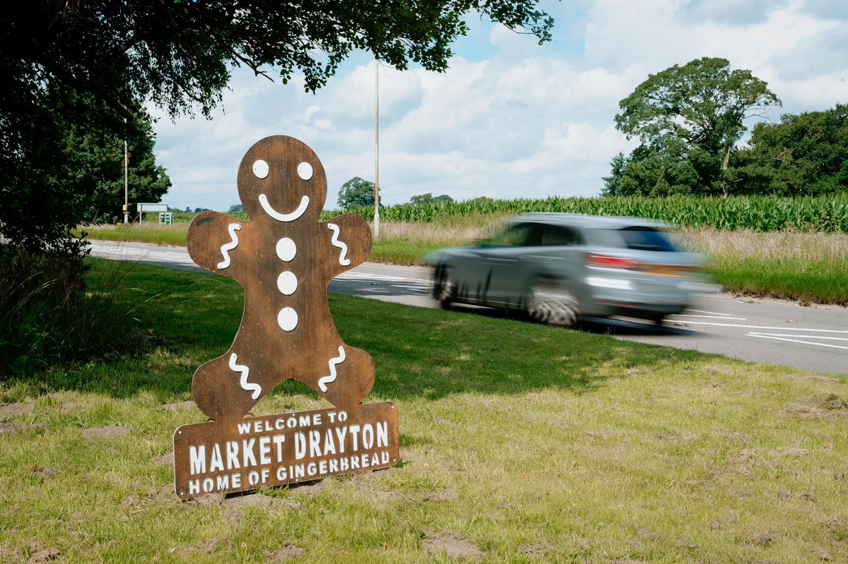 Vandals wreck one of Market Drayton's gingerbread man statues