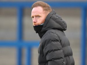 TELFORD COPYRIGHT MIKE SHERIDAN Telford manager Gavin Cowan during the Vanarama Conference North fixture between AFC Telford United and AFC Fylde at the New Bucks Head Stadium on Saturday, January 9, 2020...Picture credit: Mike Sheridan/Ultrapress..MS2021-054.