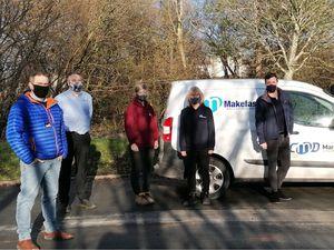 Employees from Makefast in Newtown planning their Three Peaks adventure