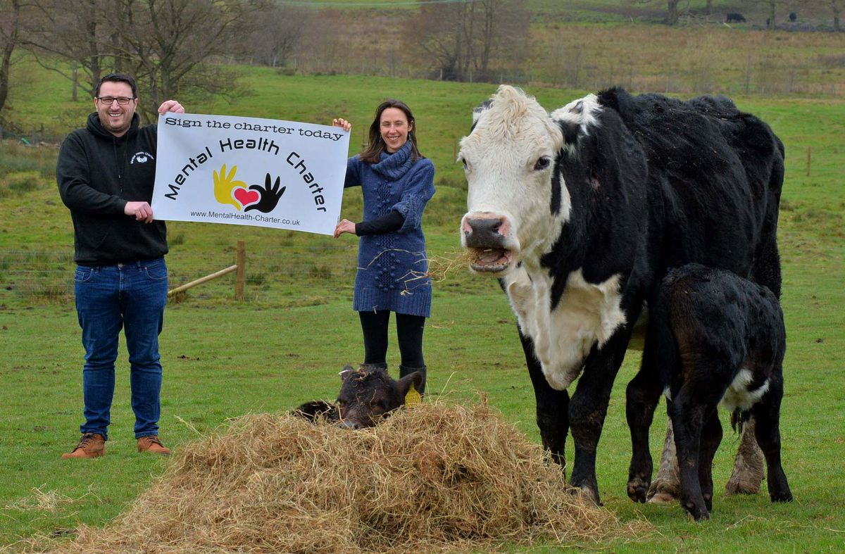 Charlotte Hollins from Fordhall Organic Farm and Michael Lloyd, who set up the Mental Health Charter