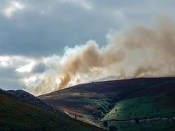 Part of Horseshoe Pass still closed by Llantysilio mountain blaze