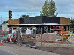 The new McDonald's restaurant being built in Market Drayton