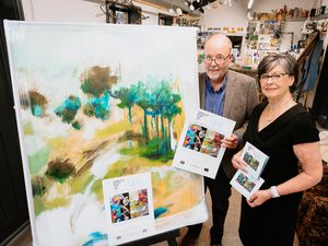 The Secret Severn Art Trail at Jackfield Tile Museum. In Picture L>R: Rod Sheppard and Jan Park