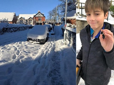 It's under there somewhere: Teenage Shropshire metal detectorist finds wedding ring hidden in snow