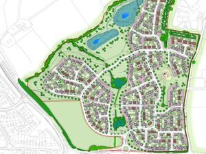 Proposed layout of homes in Telford