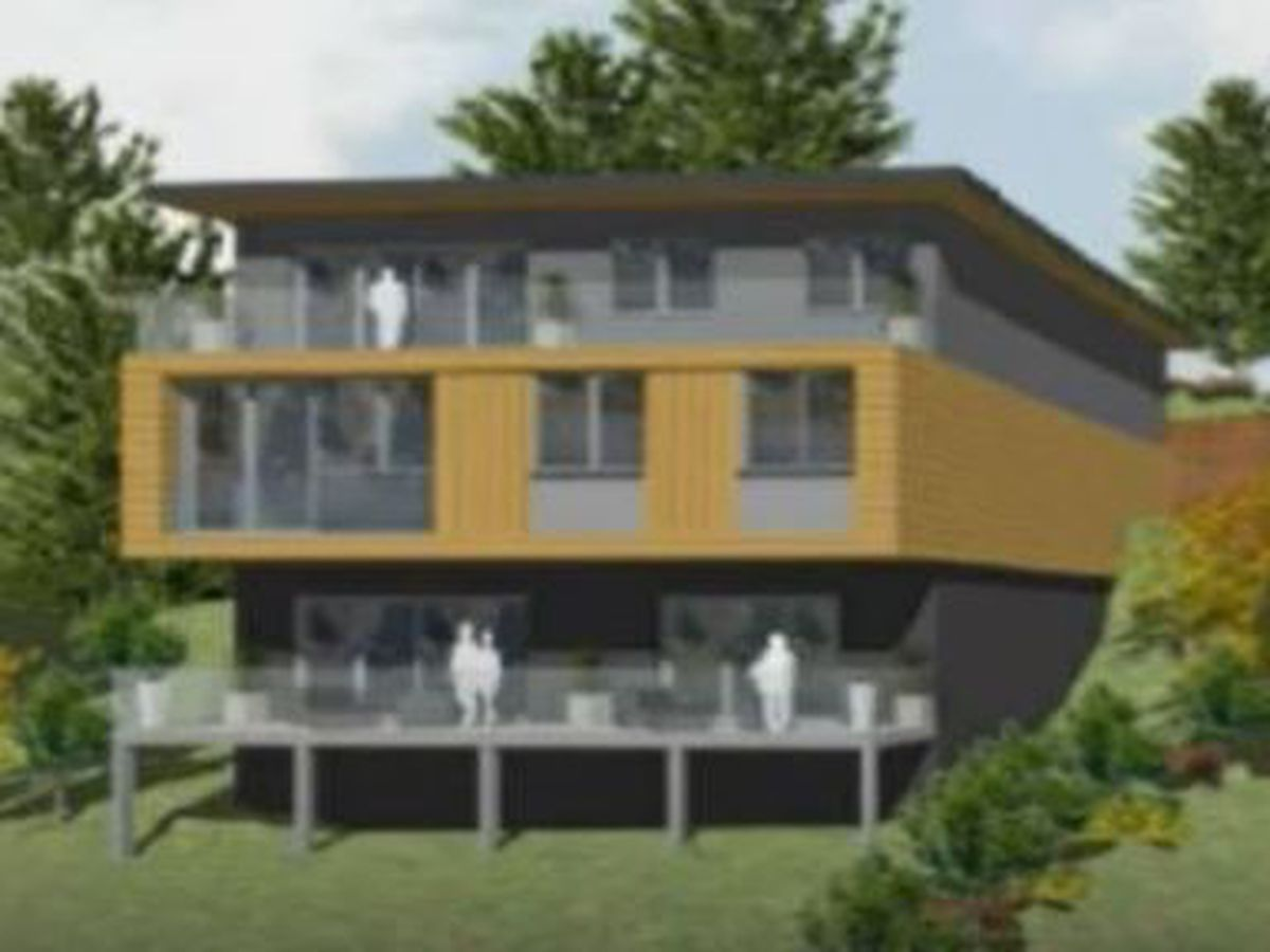 An artist's impression of how the houses would look