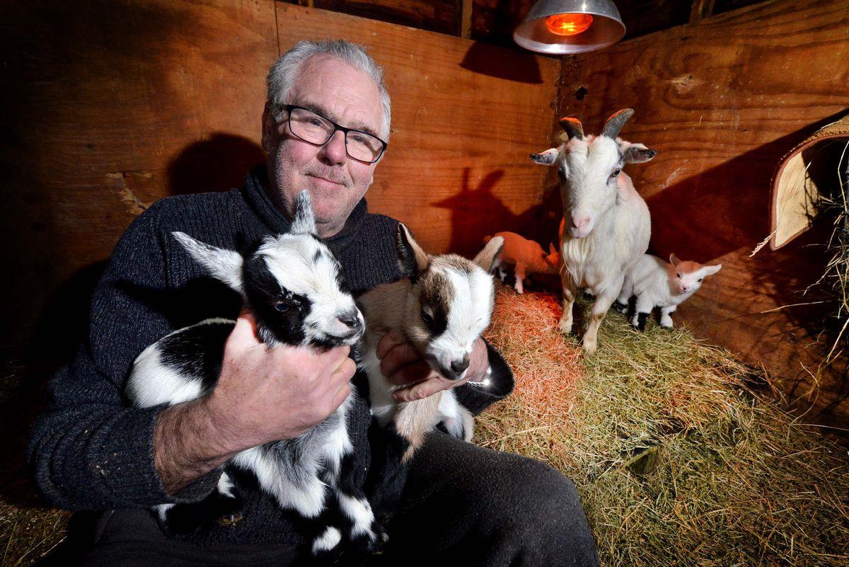 John Robinson with his Christmas Day kids