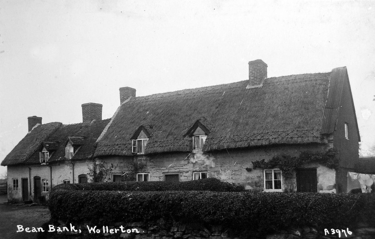 The long-disappeared cottages at Bean Bank, Wollerton.