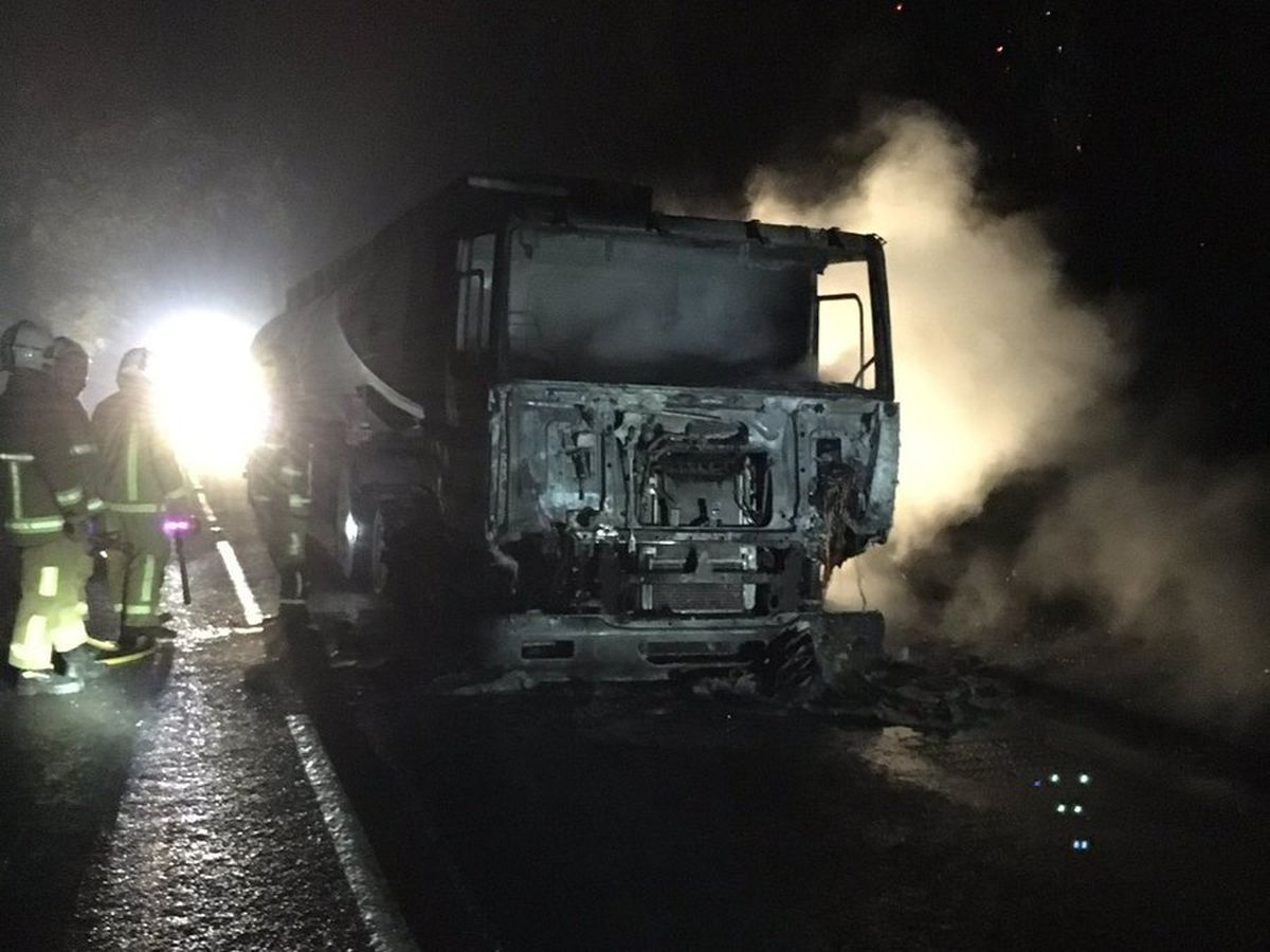 Firefighters tackled the blaze at Hampton, Malpas (@SFRS_Wchurch)