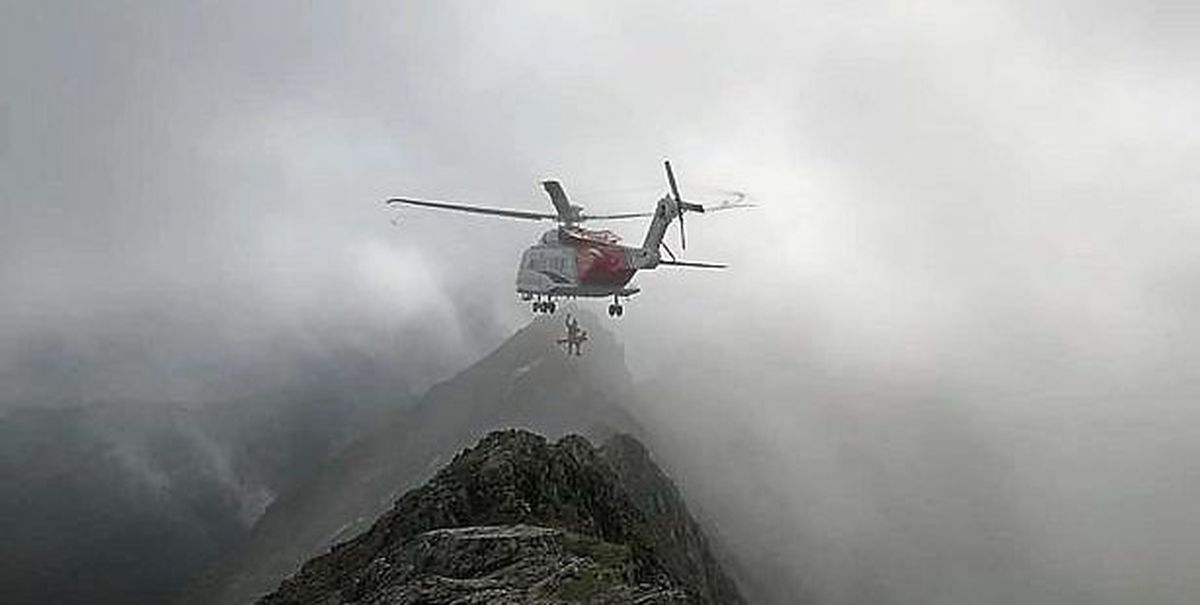 A member of Ogwen Valley Mountain Rescue Team came across the climbers. Picture: Oliver Cain/Llanberis Mountain Rescue Team