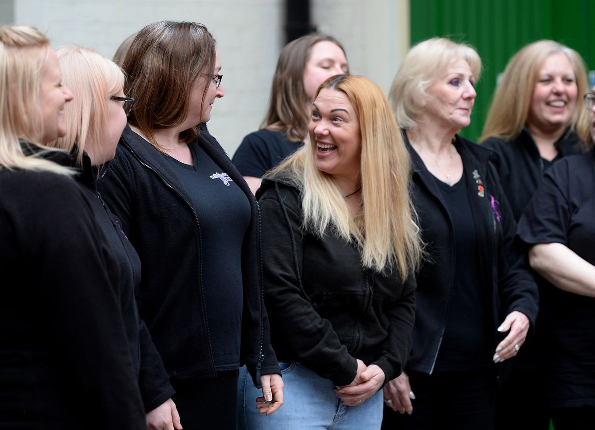 A performance by the Cosford Military Wives Choir at Light House, Wolverhampton. The performance coincides with the screenings of the film Military Wives, which is showing at Light House until March 19
