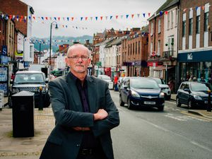 BORDER COPYRIGHT SHROPSHIRE STAR JAMIE RICKETTS 04/09/2017..Cllr Graham Breeze of Welshpool talks about Welshpool's controversial plans to the one way system..