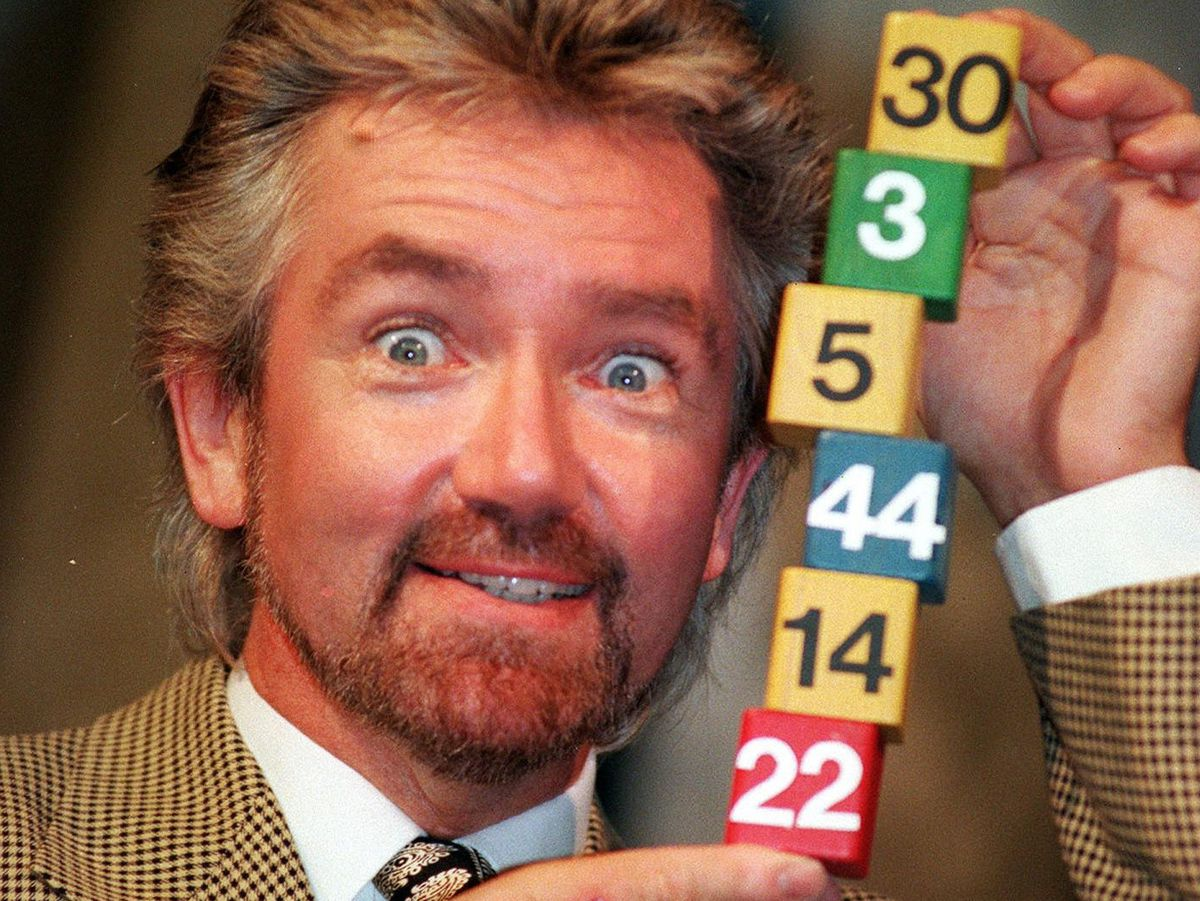 Noel Edmonds at the launch of the National Lottery in 1994