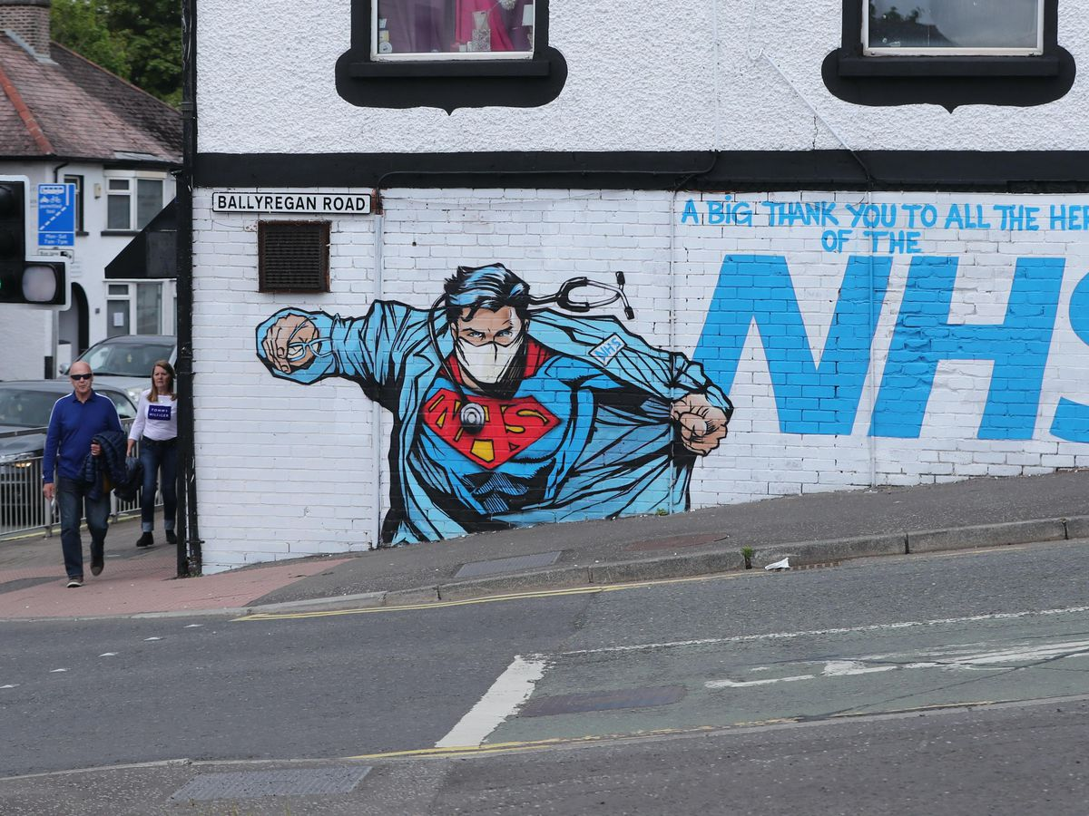 Street art supporting the NHS