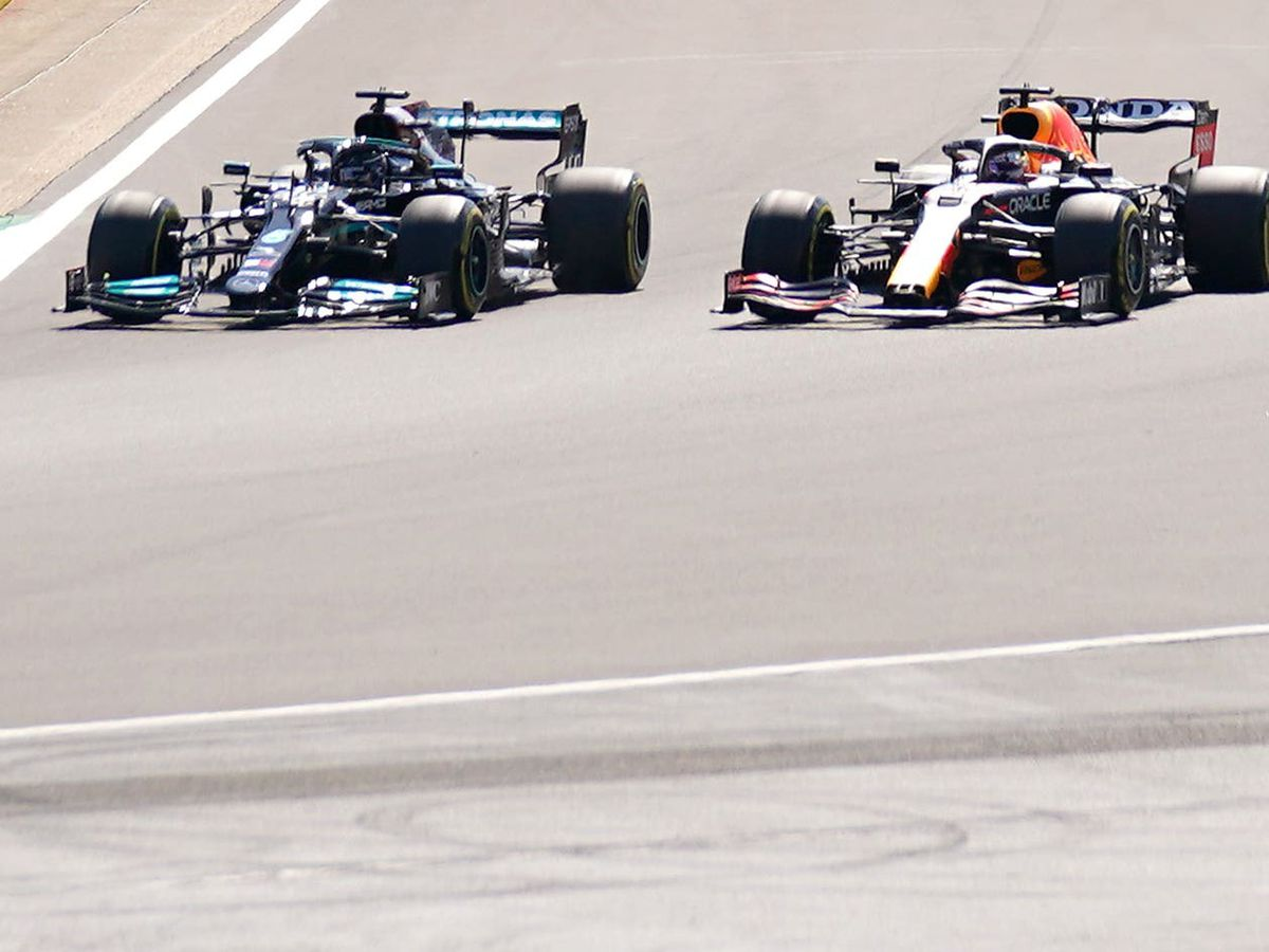 Lewis Hamilton and Max Verstappen collided at the start of the Grand Prix