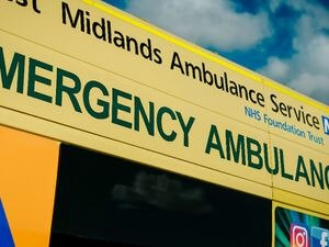 The ambulance service took the woman to Royal Shrewsbury Hospital