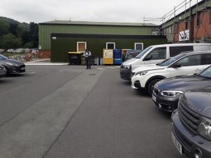 Randall Parker Foods - the Portakabin canteen would go on part of the car park.