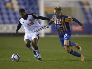 Brandon Comley of Bolton Wanderers and Jan Zamburek of Shrewsbury Town. (AMA)