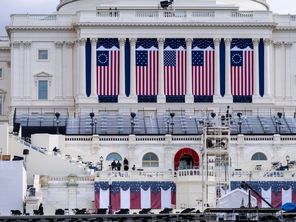 The Capitol is seen as security preparations continue leading up to President-elect Joe Biden's inauguration (J. Scott Applewhite/AP)