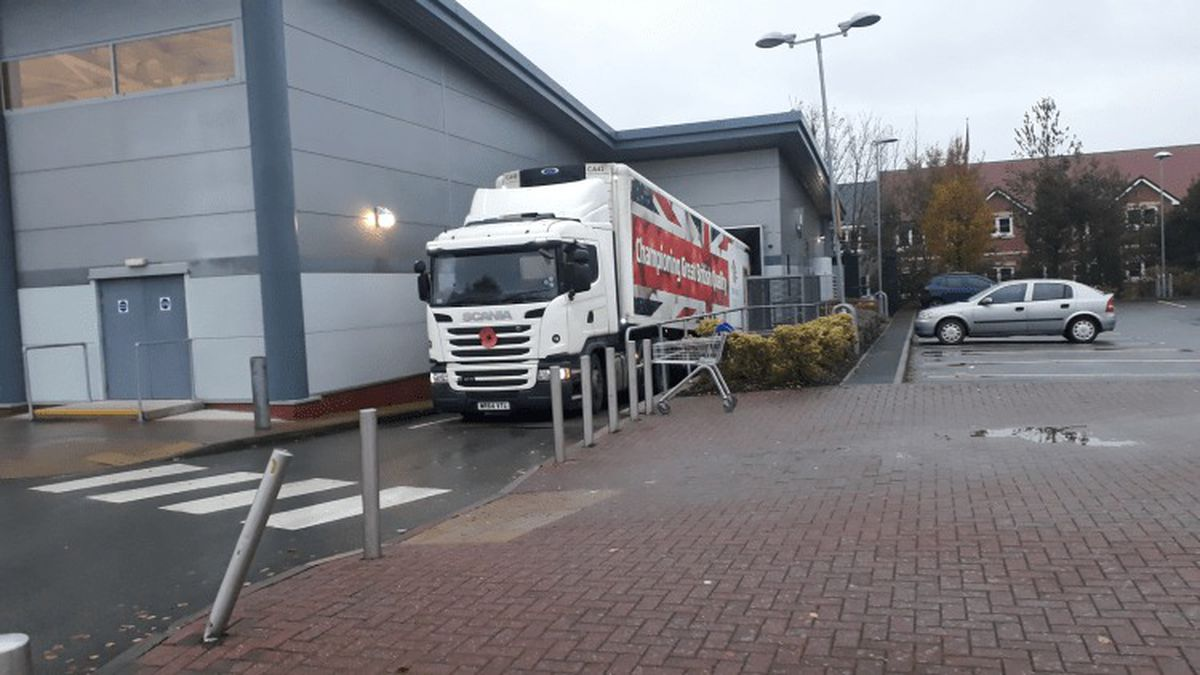 Councillor Boddington's photo of one of the offending lorries
