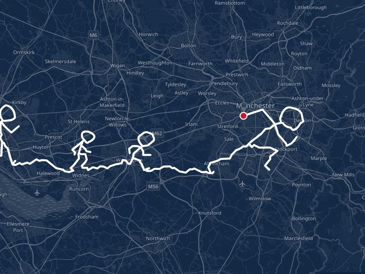 Runners embark on 250km journey to create world record GPS artwork