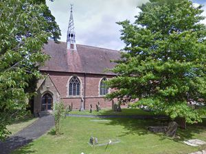St Andrew's Church in Church Aston, which was struck by lightning on Wednesday night. Photo: Google Maps