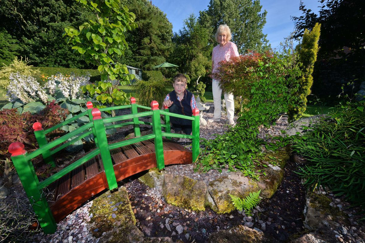 Sambrook Manor is opening to visitors this weekend. Owner Eileen Mitchell with grandson Archie Mitchell aged 12