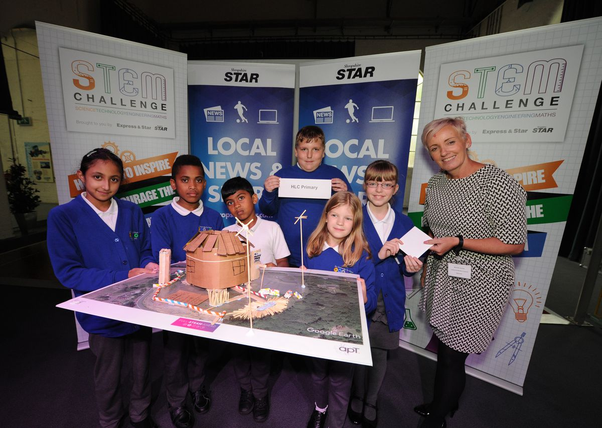 Best Design winners - pupils from HLC Primary, with Life Ready Work Ready co-ordinator Michele Ashley