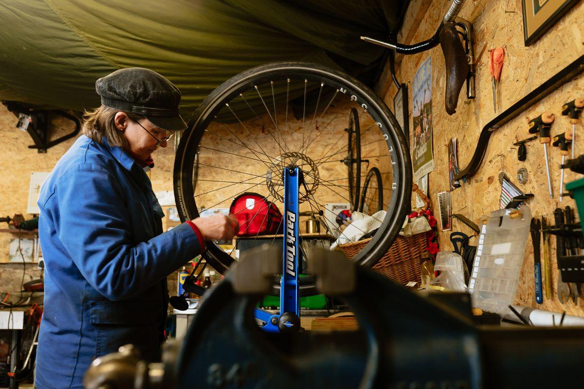 Liz Colework of Beaumont Bicycle in Bishops Castle