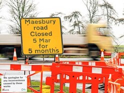 Major tailbacks for drivers in roadworks on the A483 at Oswestry