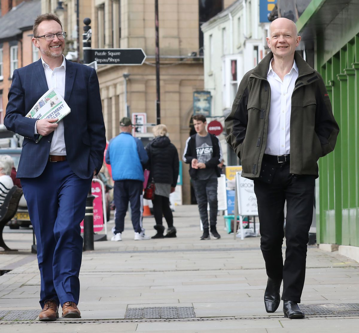 Russell George was joined by William Hague during the campaign