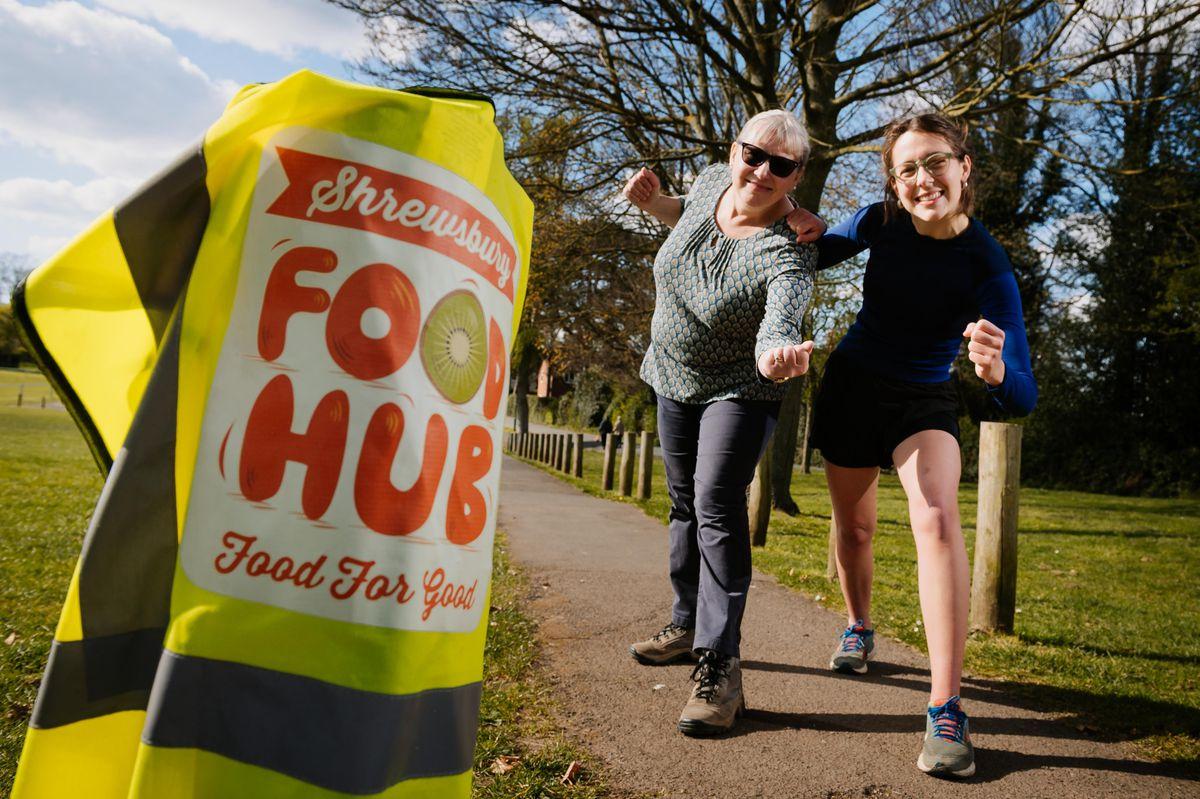Diane Lobban and Daughter Pippa Lobban are raising money for Shrewsbury Food Hub